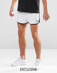 Винтажные шорты Puma эксклюзивно для ASOS - Белый