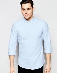 Оксфордская рубашка узкого кроя Farah - Sky
