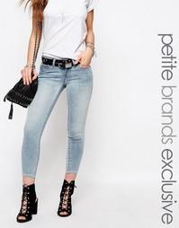 Светлые укороченные джинсы с молнией Noisy May Petite Eve - Синий