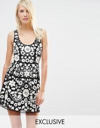 Платье для выпускного с вышивкой Needle & Thread - Черный