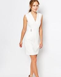Платье с металлической отделкой Ted Baker - Кремовый