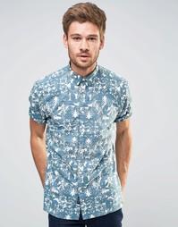 Рубашка с короткими рукавами и цветочным принтом Selected Homme