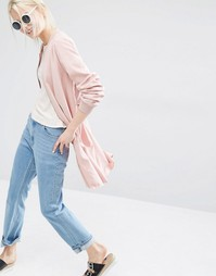 Удлиненная куртка-пилот Monki - Розовый