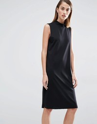 Цельнокройное платье с высокой горловиной Selected Coda - Черный