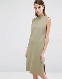 Цельнокройное платье с высокой горловиной Selected Coda - Алоэ