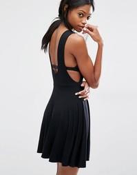 Приталенное платье с заниженными проймами Missguided - Черный