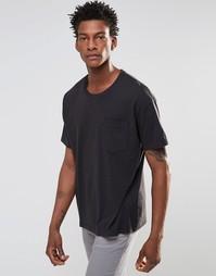 Черная футболка прямого кроя с карманом Levi's Line 8 - Черный