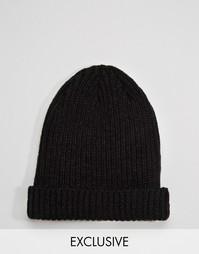 Черная шапка-бини Reclaimed Vintage - Черный