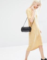 Платье-футболка миди Monki - Желтый