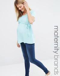 Топ для беременных Mamalicious Toni - Цвет дымчатой морской волны Mama.Licious