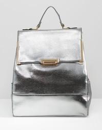 Рюкзак с отделкой металлик Liquorish - Серебряный