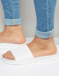 Белые сандалии с эффектом змеиной кожи ASOS - Белый