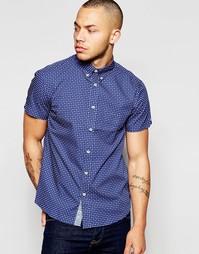 Поплиновая рубашка с короткими рукавами и принтом Dickens and Browne