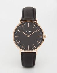 Часы с черным кожаным ремешком Cluse La Boheme CL18001