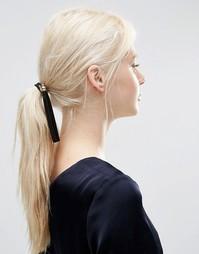Повязка для волос с замшевой кисточкой ASOS Black - Черный
