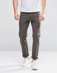 Стретчевые джинсы слим цвета хаки ASOS - Forest night