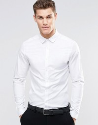 Облегающая оксфордская рубашка с длинными рукавами ASOS - Белый