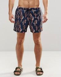 Темно-синие шорты для плавания Hugo Boss Piranha - Темно-синий