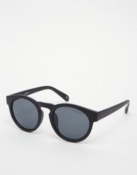 Круглые солнцезащитные очки в массивной черной оправе ASOS - Черный
