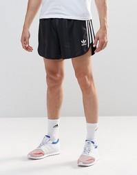 Шорты в стиле ретро adidas Originals AJ6937 - Черный