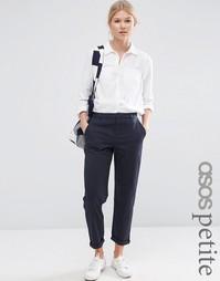 Выбеленные брюки чиносы ASOS PETITE - Темно-синий