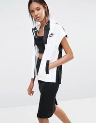 Куртка колор блок на молнии Nike Premium - Белый