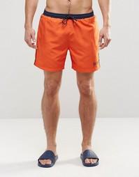 Оранжевые шорты для плавания Hugo Boss Star Fish - Оранжевый