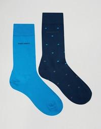 2 пары синих носков в горошек Hugo Boss - Синий