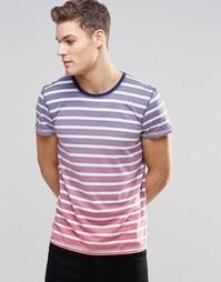 Полосатая футболка с эффектом деграде Esprit - Синий