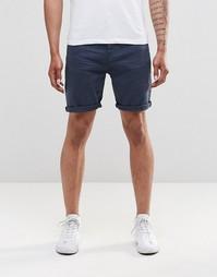Темно-синие джинсовые шорты слим ASOS - Темный синий