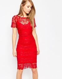 Кружевное платье с моделирующим эффектом Body Frock Lisa - Красный