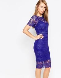 Кружевное платье с моделирующим эффектом Body Frock Lisa - Кобальтовый