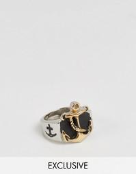 Кольцо с массивным якорем Reclaimed Vintage