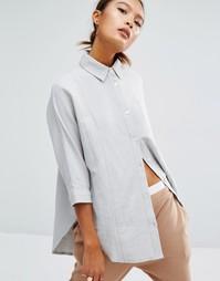 Повседневная рубашка со вставками и рукавами 3/4 Daisy Street - Серый