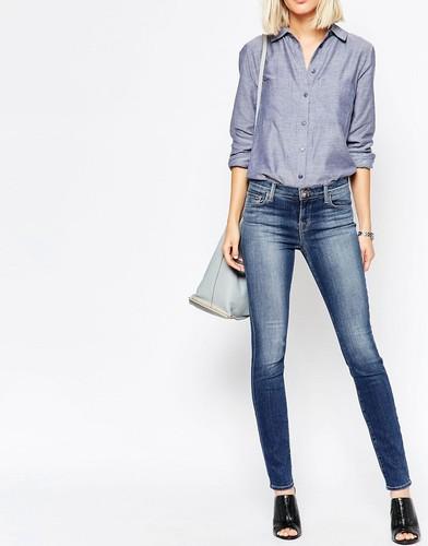 Облегающие джинсы с классической талией J Brand 811 - Синий