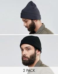 2 шапки‑бини (мини/oversize) Reclaimed Vintage - Мульти