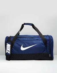 Большая синяя сумка дафл Nike Brasilia BA4828-401 - Синий