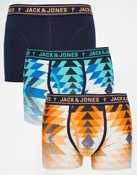 Комплект из 3 боксеров-брифов с принтом Jack & Jones - Мульти