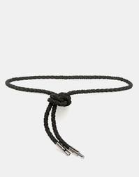 Ремень-веревочка из искусственной кожи ASOS - Черный