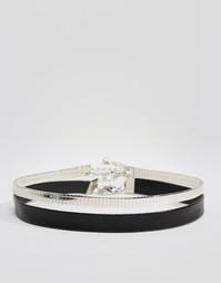 Двухъярусное ожерелье-чокер Missguided - Серебряный