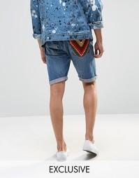 Шорты с нашивкой на кармане Reclaimed Vintage Levi's - Синий