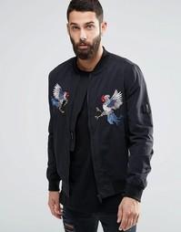 Куртка-пилот с вышивкой Religion Souvenir - Черный