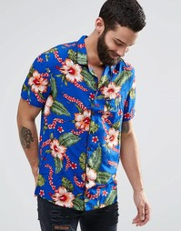 Рубашка с короткими рукавами и гавайским принтом Religion - Hawaii smu