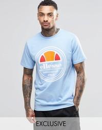 Футболка с круглым логотипом Ellesse - Синий