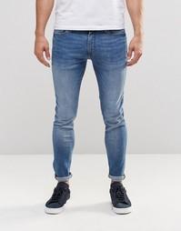 Суперэластичные джинсы скинни Jack & Jones - Светло-голубой