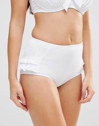 Трусики бикини с утягивающим эффектом Pour Moi Splash - Белый