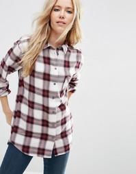 Oversize-рубашка в красную клетку ASOS - Мульти