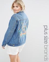 Джинсовая куртка с вышивкой Alice & You - Синий