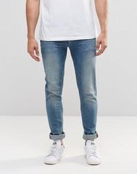 Светлые облегающие джинсы ASOS - Светло-голубой