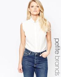 Блузка с оборками Alter Petite - Белый
